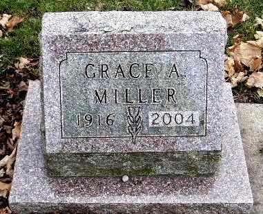 MILLER, GRACE A - Calhoun County, Michigan | GRACE A MILLER - Michigan Gravestone Photos