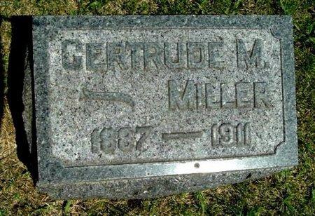 MILLER, GERTRUDE M - Calhoun County, Michigan   GERTRUDE M MILLER - Michigan Gravestone Photos