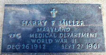 MILLER, HARRY F - Calhoun County, Michigan   HARRY F MILLER - Michigan Gravestone Photos