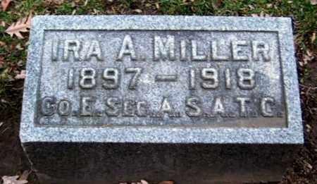 MILLER, IRA A - Calhoun County, Michigan   IRA A MILLER - Michigan Gravestone Photos