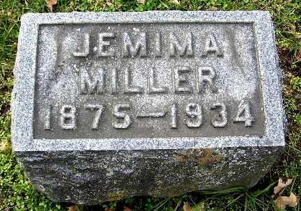 MILLER, JEMIMA - Calhoun County, Michigan | JEMIMA MILLER - Michigan Gravestone Photos