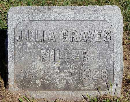 MILLER, JULIA - Calhoun County, Michigan | JULIA MILLER - Michigan Gravestone Photos