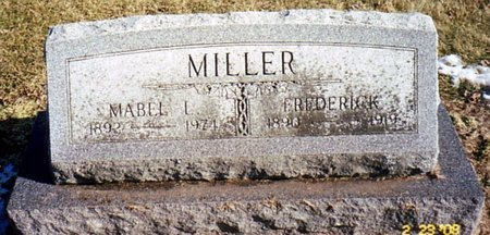 MILLER, FREDERICK - Calhoun County, Michigan | FREDERICK MILLER - Michigan Gravestone Photos