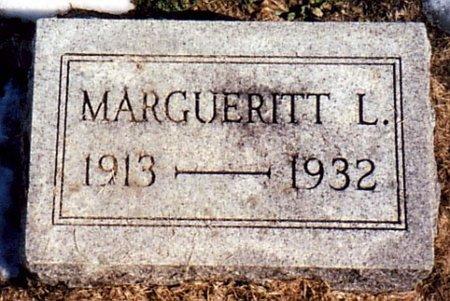 MILLER, MARGUERITT L. - Calhoun County, Michigan   MARGUERITT L. MILLER - Michigan Gravestone Photos