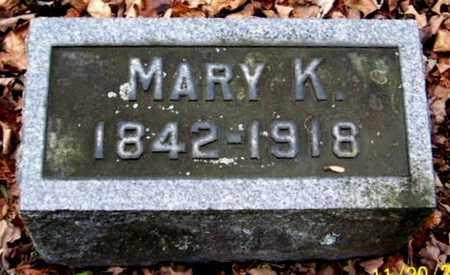 MILLER, MARY K - Calhoun County, Michigan | MARY K MILLER - Michigan Gravestone Photos