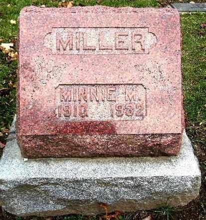 MILLER, MINNIE M - Calhoun County, Michigan | MINNIE M MILLER - Michigan Gravestone Photos