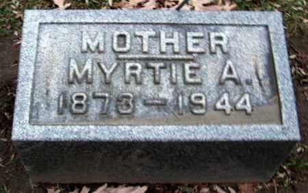 MILLER, MYRTIE A - Calhoun County, Michigan | MYRTIE A MILLER - Michigan Gravestone Photos