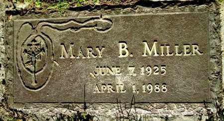 MILLER, MARY B - Calhoun County, Michigan   MARY B MILLER - Michigan Gravestone Photos
