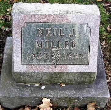 MILLER, NEIL J - Calhoun County, Michigan | NEIL J MILLER - Michigan Gravestone Photos