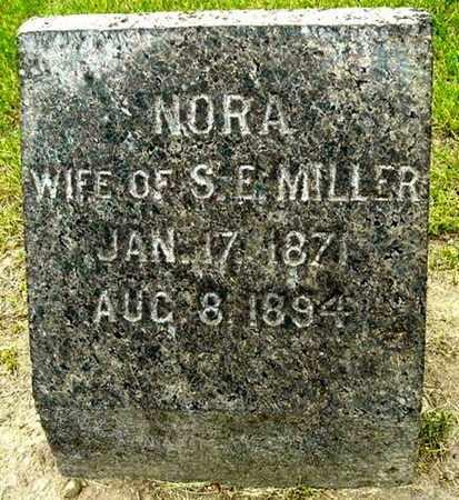 MILLER, NORA - Calhoun County, Michigan   NORA MILLER - Michigan Gravestone Photos
