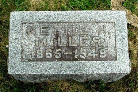 MILLER, NETTIE H - Calhoun County, Michigan | NETTIE H MILLER - Michigan Gravestone Photos
