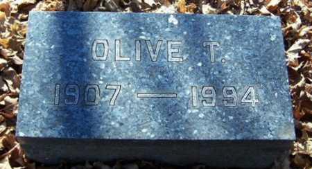 MILLER, OLIVE T. - Calhoun County, Michigan   OLIVE T. MILLER - Michigan Gravestone Photos