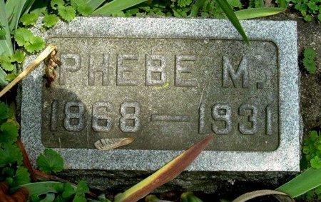 MILLER, PHEBE M - Calhoun County, Michigan   PHEBE M MILLER - Michigan Gravestone Photos