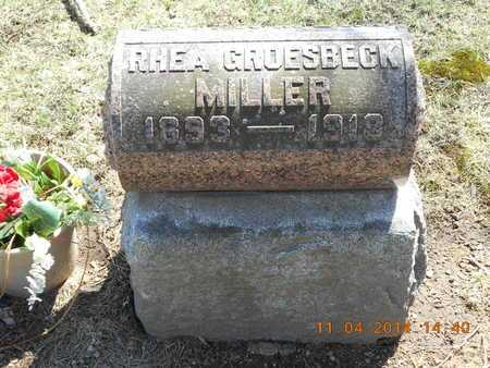 MILLER, RHEA - Calhoun County, Michigan   RHEA MILLER - Michigan Gravestone Photos