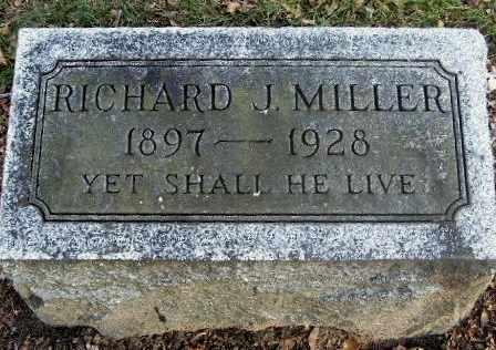 MILLER, RICHARD J - Calhoun County, Michigan   RICHARD J MILLER - Michigan Gravestone Photos