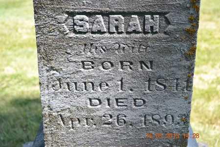 MILLER, SARAH - Calhoun County, Michigan | SARAH MILLER - Michigan Gravestone Photos