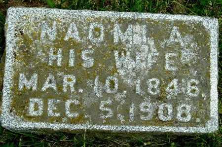 MINER, NAOMI A - Calhoun County, Michigan | NAOMI A MINER - Michigan Gravestone Photos