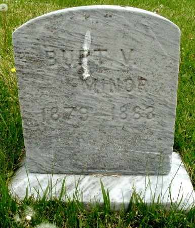 MINOR, BURT V - Calhoun County, Michigan | BURT V MINOR - Michigan Gravestone Photos