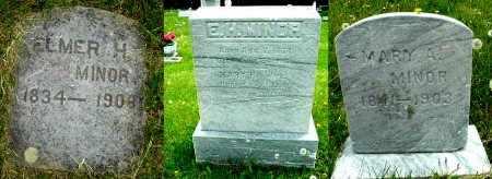 MINOR, ELMER H - Calhoun County, Michigan | ELMER H MINOR - Michigan Gravestone Photos