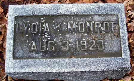 MONROE, LYDIA K - Calhoun County, Michigan   LYDIA K MONROE - Michigan Gravestone Photos