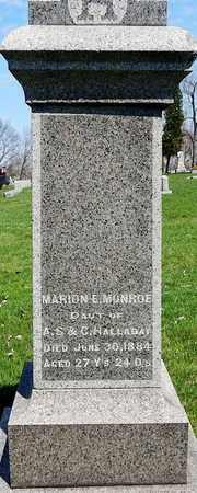MONROE, MARION E - Calhoun County, Michigan | MARION E MONROE - Michigan Gravestone Photos