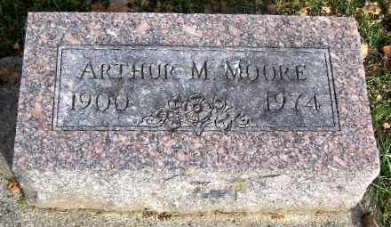 MOORE, ARTHUR M - Calhoun County, Michigan | ARTHUR M MOORE - Michigan Gravestone Photos