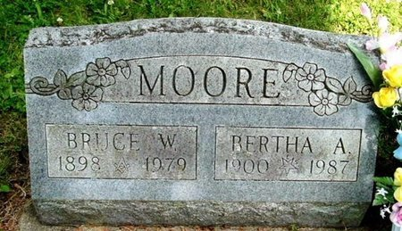 MOORE, BERTHA A - Calhoun County, Michigan | BERTHA A MOORE - Michigan Gravestone Photos