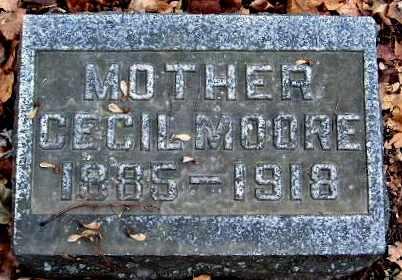 MOORE, CECIL - Calhoun County, Michigan | CECIL MOORE - Michigan Gravestone Photos