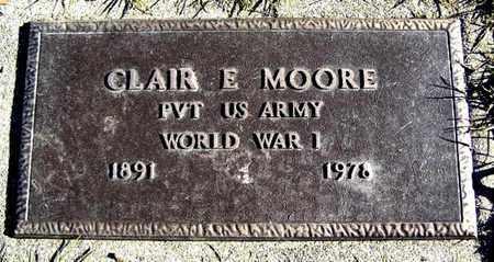 MOORE, CLAIR E - Calhoun County, Michigan | CLAIR E MOORE - Michigan Gravestone Photos