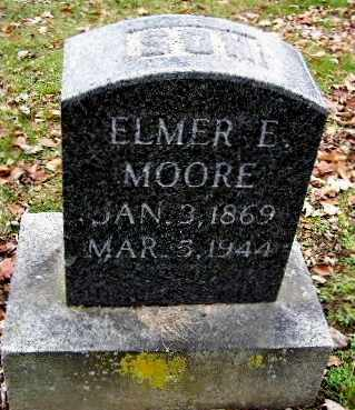 MOORE, ELMER E - Calhoun County, Michigan | ELMER E MOORE - Michigan Gravestone Photos