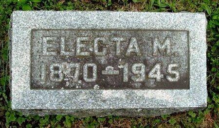 MOORE, ELECTA M - Calhoun County, Michigan   ELECTA M MOORE - Michigan Gravestone Photos