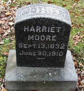 MOORE, HARRIET - Calhoun County, Michigan   HARRIET MOORE - Michigan Gravestone Photos