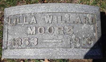 MOORE, LILLA - Calhoun County, Michigan   LILLA MOORE - Michigan Gravestone Photos