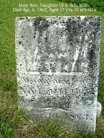 MOORE, MARY ANN - Calhoun County, Michigan | MARY ANN MOORE - Michigan Gravestone Photos