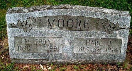 MOORE, HARL - Calhoun County, Michigan   HARL MOORE - Michigan Gravestone Photos