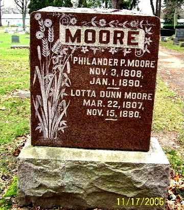 MOORE, PHILANDER P - Calhoun County, Michigan | PHILANDER P MOORE - Michigan Gravestone Photos