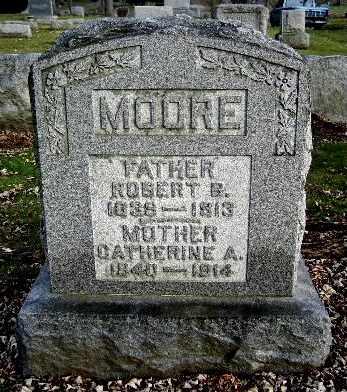 MOORE, CATHERINE A - Calhoun County, Michigan | CATHERINE A MOORE - Michigan Gravestone Photos