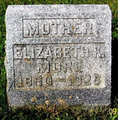 MORE, ELIZABETH K - Calhoun County, Michigan | ELIZABETH K MORE - Michigan Gravestone Photos