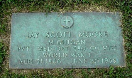 MOORE, JAY SCOTT - Calhoun County, Michigan   JAY SCOTT MOORE - Michigan Gravestone Photos