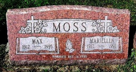 MOSS, MAX - Calhoun County, Michigan | MAX MOSS - Michigan Gravestone Photos