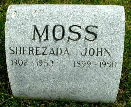MOSS, JOHN - Calhoun County, Michigan | JOHN MOSS - Michigan Gravestone Photos