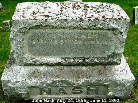 NASH, JOHN - Calhoun County, Michigan | JOHN NASH - Michigan Gravestone Photos