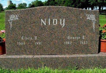 NIDY, GEORGE E. - Calhoun County, Michigan   GEORGE E. NIDY - Michigan Gravestone Photos