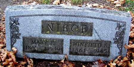 NIECE, WINFIELD - Calhoun County, Michigan | WINFIELD NIECE - Michigan Gravestone Photos