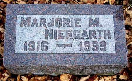 NIERGARTH, MARJORIE - Calhoun County, Michigan   MARJORIE NIERGARTH - Michigan Gravestone Photos