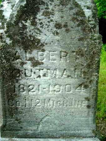OUTMAN, ALBERT - Calhoun County, Michigan | ALBERT OUTMAN - Michigan Gravestone Photos