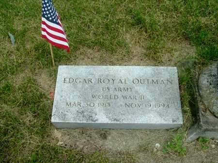 OUTMAN, EDGAR - Calhoun County, Michigan | EDGAR OUTMAN - Michigan Gravestone Photos