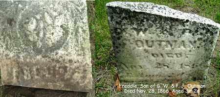 OUTMAN, FREDDIE - Calhoun County, Michigan | FREDDIE OUTMAN - Michigan Gravestone Photos