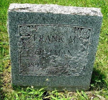 OUTMAN, FRANK M - Calhoun County, Michigan | FRANK M OUTMAN - Michigan Gravestone Photos