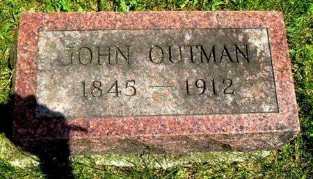 OUTMAN, JOHN - Calhoun County, Michigan | JOHN OUTMAN - Michigan Gravestone Photos